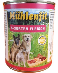 Mühlenfit f. Hunde 5-Sorten Fleisch 800g
