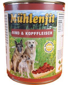 Mühlenfit f. Hunde Rind&Kopffleisch 800g
