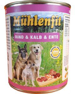 Mühlenfit f. Hunde Rind&Kalb&Ente 800g