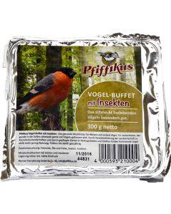 Pfiffikus Vogel-Buffet mit Insekten